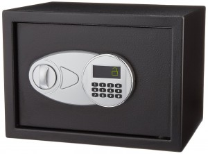 AmazonBasics Security Safe – Electronic Lock College Dorm Safe